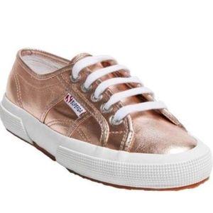 Superga 2750 Rose Gold Metallic Sneakers